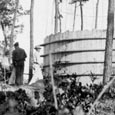 Water Tower Construction, Bastrop State Park, c. 1936
